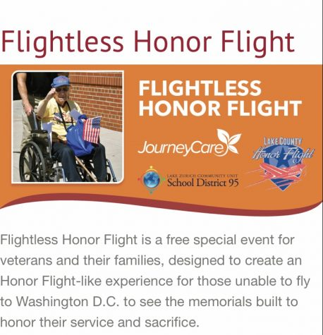Ryan Rubenstein, assistant principal, works on the Flightless Honor Flight since it will be hosted at the high school this year. The Honor Flight is meant to honor the veterans who can not receive a typical Honor Flight.