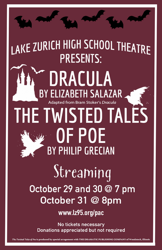 LZHS' theatre is releasing the radio show Dracula and the Twisted Tales of Poe. Get your headphones ready this Thursday, Friday, and Saturday!