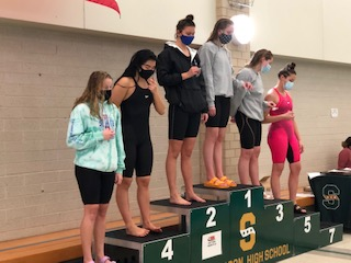 The girls swim team's season recently came to a close. The girls still managed to have a good season, having Olivia Dorhorst, junior, and Clara Krogman, sophomore, place at Sectionals.