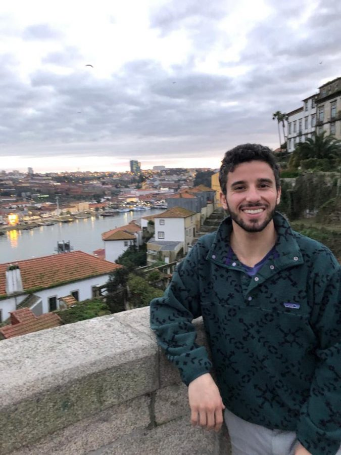 Nathan Kessler, Spanish teacher, was able to explore Europe during his year teaching in Spain, and is pictured here in Porto, Portugal.