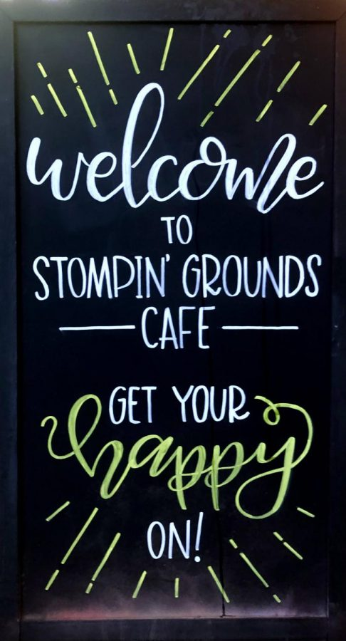 The varying decor around Stompin' Grounds Café are part of what make it such a charming place to stop for a treat.
