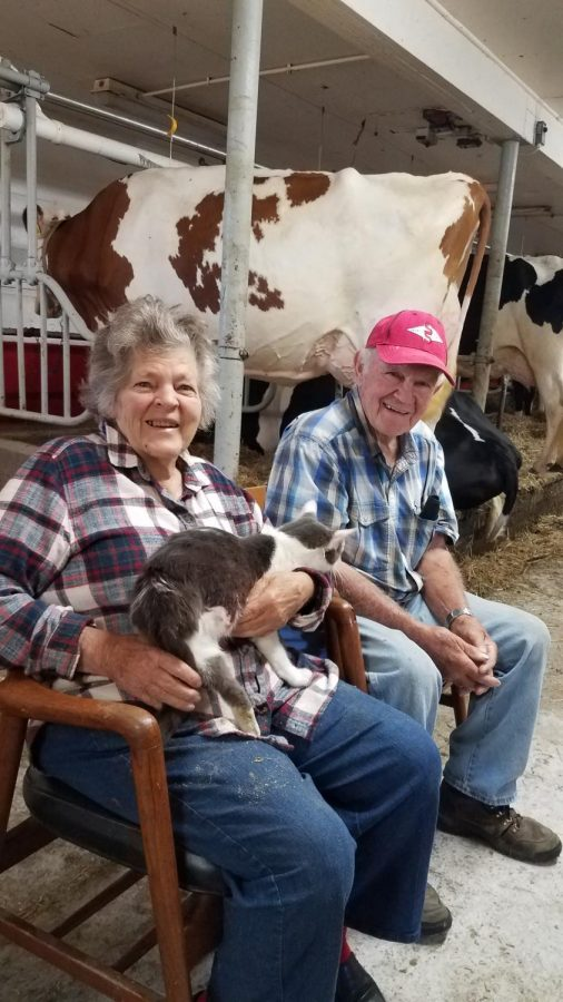 Bob and Kaye, who help raise the cattle, are part of the program as well. Addison's class made connections with both the cows and people on the cattle farm.