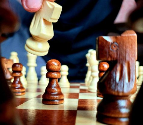 Every person starts with the same 16 pieces, and the objective is to capture the king. Because in-person chess is not possible currently, Chess club is using a website called chess.com, which is where all chess games will take place.
