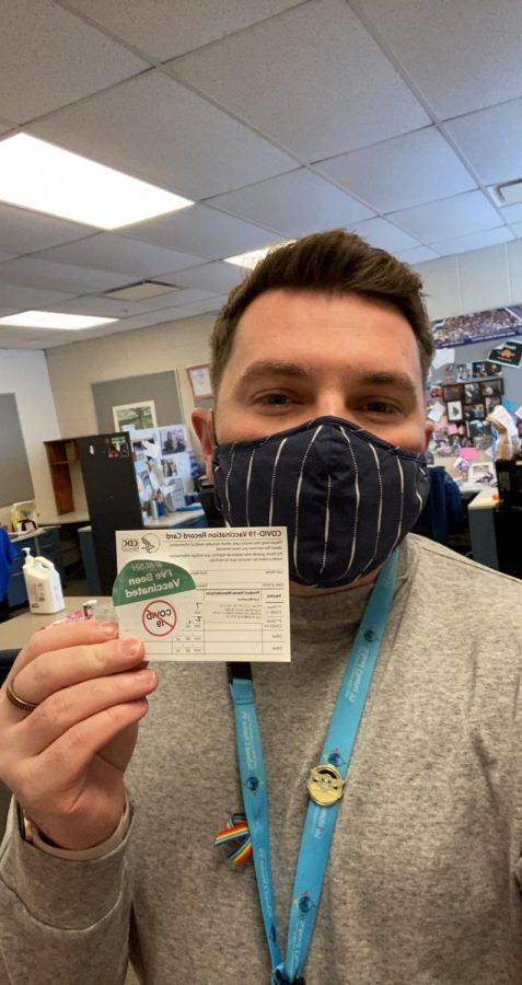 As the waves for the vaccine continue to move forward, more and more people are feeling desperation to receive the vaccine. Jordan Addison, English teacher, is one of the lucky few who has already received the vaccine.