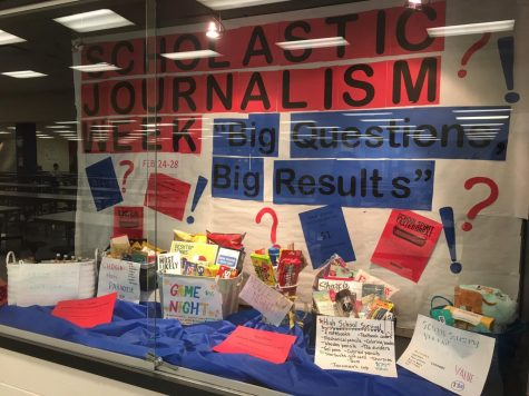 Last year, part of the Scholastic Journalism Week celebration was raffling off baskets. The Bear Facts staff has decided to discontinue this tradition for safety reasons, but still plans to hold a fundraiser and  create more social media content.