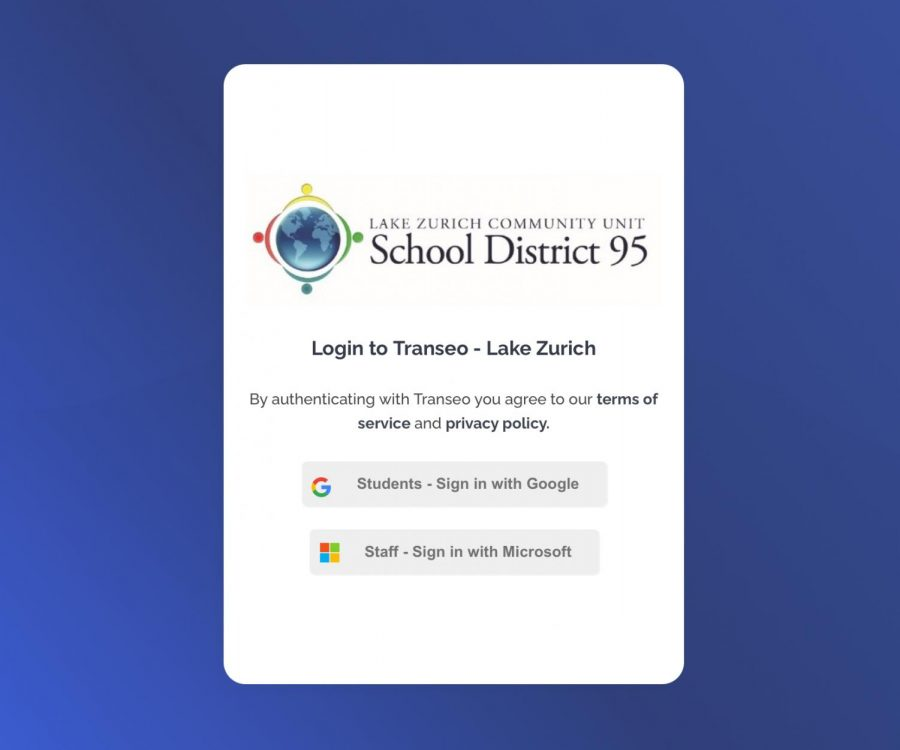 LZ students can use new app Transeo to track their high school experience and sign in using their Google information.