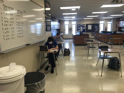 Students hurry to finish their tests before the bell. While tests like these make a major impact on a students