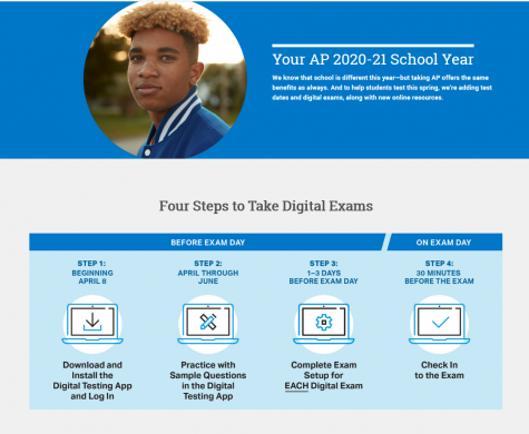 """For the 2021 digital AP exams, the College Board has made a few changes from last year's exams. """"This year with digital, they are not allowing you to write out essays or write out answers, like last year, when you were able to write them out and upload them with your phone - that"""