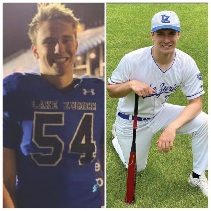 Logan Griglione, junior, was given 1 day of off time between football and baseball seasons this Spring. This is  a massive change from the typical 3-4 months of off-time in a normal year between the two sports due to IHSA schedules for the 2020/21 school year