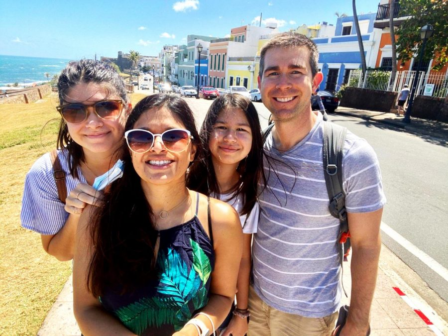 """""""We were in Puerto Rico over spring break and we got negative COVID tests to be able to go,"""" Asha Spetter, sophomore pictured on the far left, said. """"We saw a lot of histroy and went to some really nice restaurants; the buildings all had a unique color as well."""""""