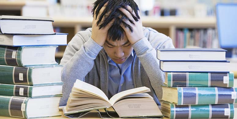 If you have a packed schedule, you probably have a lot of homework. A lot of homework causes students to be extremely stressed and can also be the cause of lack of sleep.