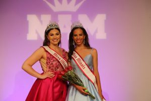 Courtney Larson (left), the 2020 Miss Illinois Teen, and Hannah Etienne (right) the 2021 Miss Illinois Teen, shortly after the finale on July 5, 2021.
