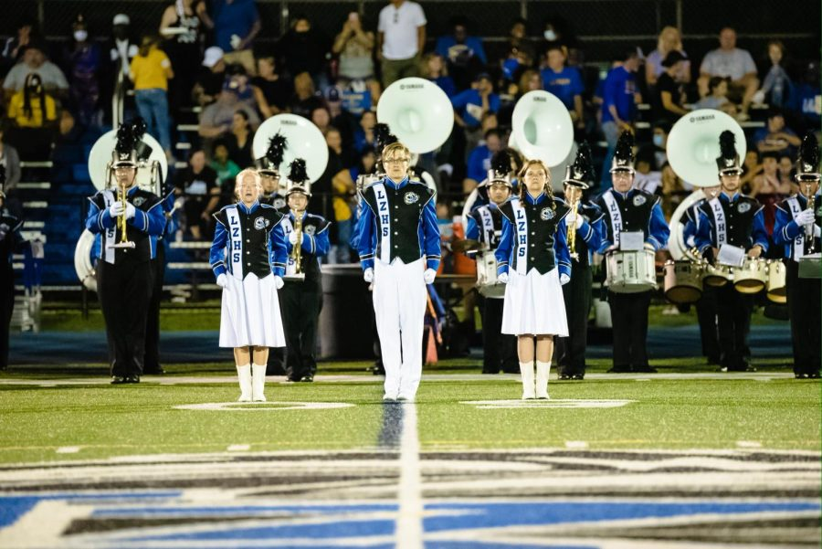 Drum majors march into action